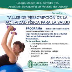 2015-04-25 – Taller de Prescripcíon de la Actividad Física para la Salud