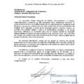 Carta de la Federación de Colegios Médicos de Mexico, Centroamerica y el Caribe