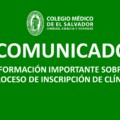 COMUNICADO: SOBRE PROCESO DE INSCRIPCIÓN DE CLINICAS