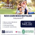 Nuevo Seguro Médico Hospitalario… Adquierelo!!