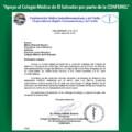 """""""Apoyo al Colegio Médico de El Salvador por parte de la CONFEMEL"""""""
