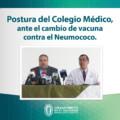 Postura del Colegio Médico, ante cambio de vacuna contra neumococo…
