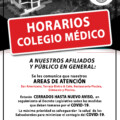 HORARIOS COLEGIO MÉDICO