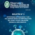 BOLETÍN N° 3: ESTRATEGIAS DE VIGILANCIA Y USO DEL NÚMERO BÁSICO DE REPRODUCCIÓN DEL COVID-19 EN EL SALVADOR
