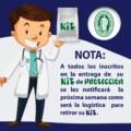 IMPORTANTE: PRÓXIMA SEMANA ENTREGA DE KIT DE PROTECCIÓN