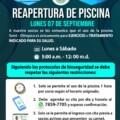 ¡¡REAPERTURA DE PISCINA!! LUNES 07 DE SEPTIEMBRE