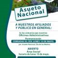HORARIO: LUNES 10 DE MAYO