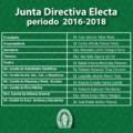 JUNTA DIRECTIVA ELECTA PARA EL PERIODO 2016-2018