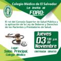 Foro: El rol del Consejo Superior de Salud Pública y la aplicación de la Ley de Deberes y Derechos de los Pacientes y Prestadores de Salud.