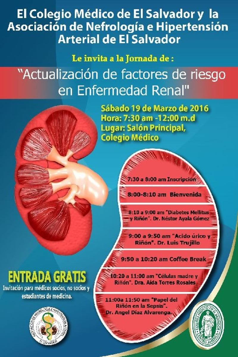 2016-03-19 – Actualización de factores de riesgo en Enfermedad Renal