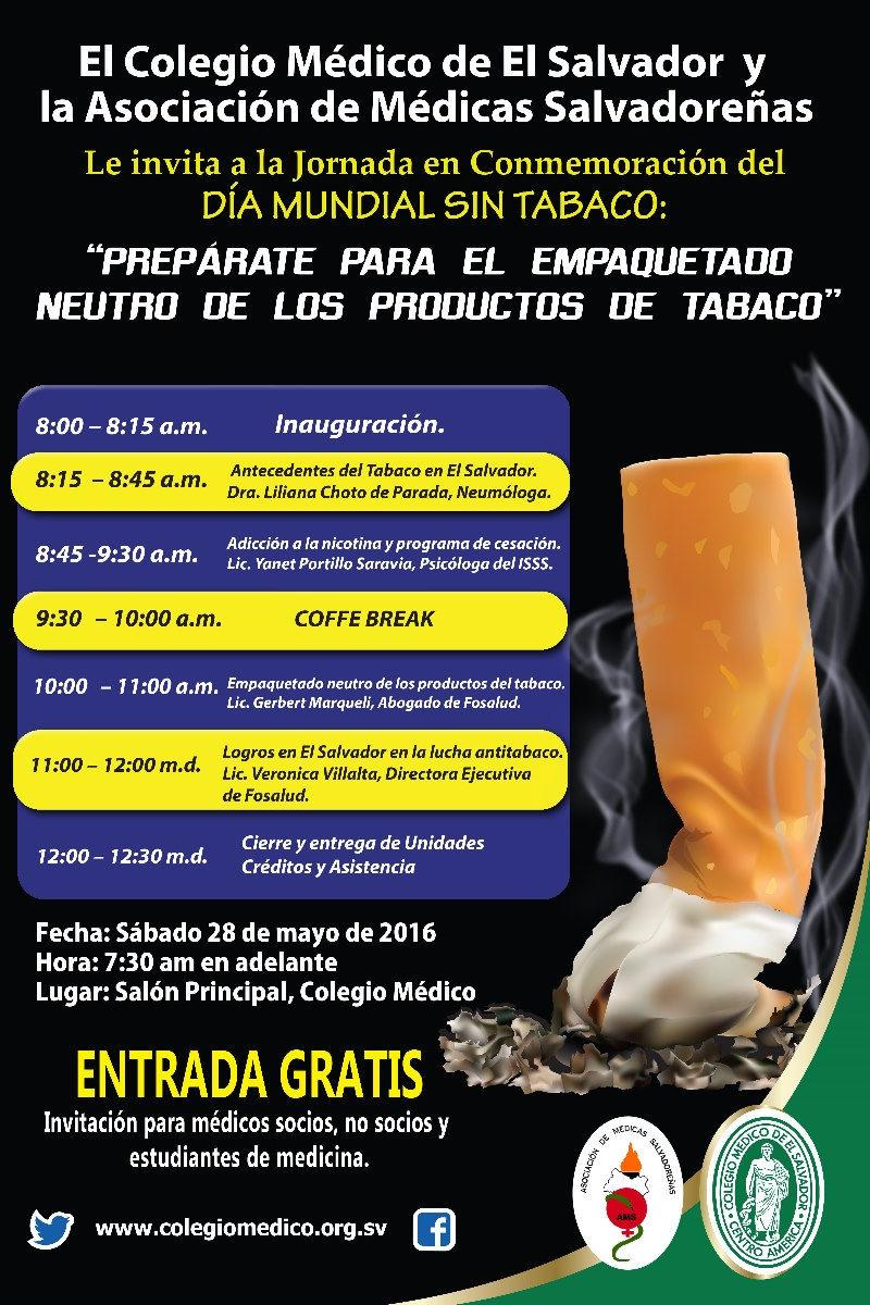 2016-05-28 – Jornada del día mundial del Tabaco