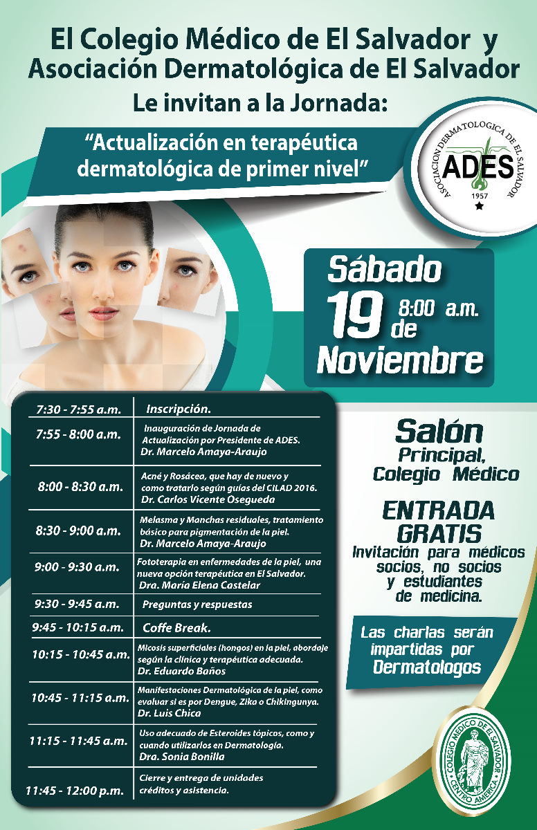 2016-11-19 – Jornada Actualización en terapéutica dermatológica de primer nivel